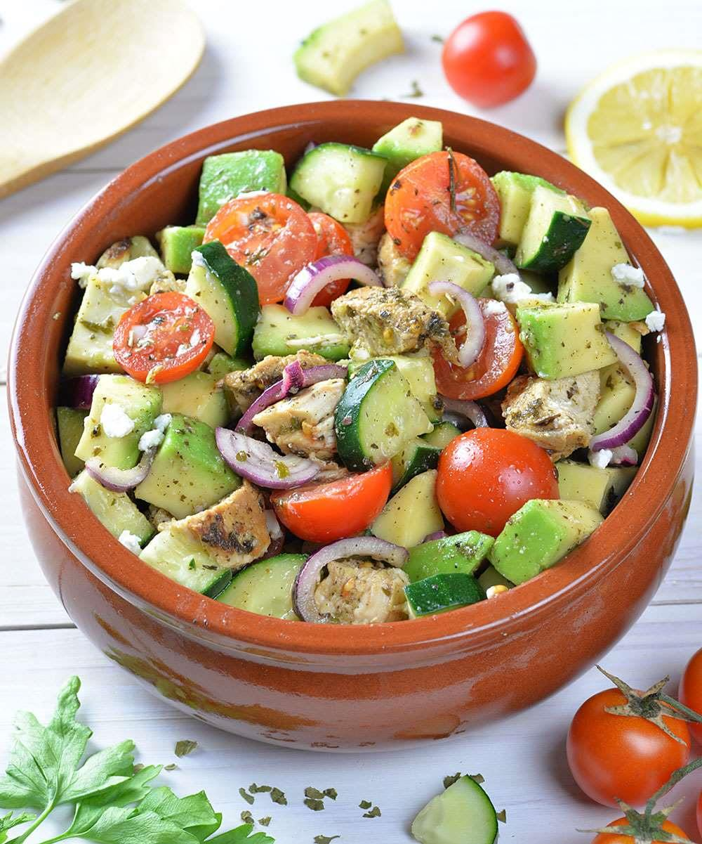 Healthy Chicken And Avocado Salad