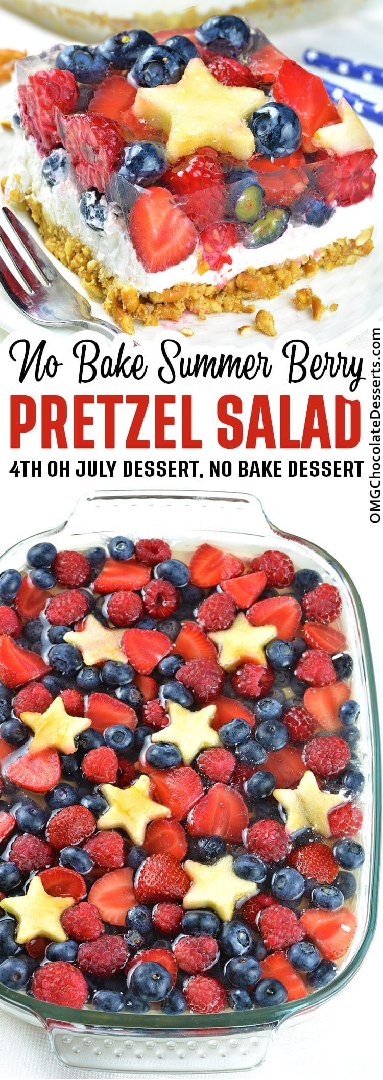 Summer Berry Pretzel Salad