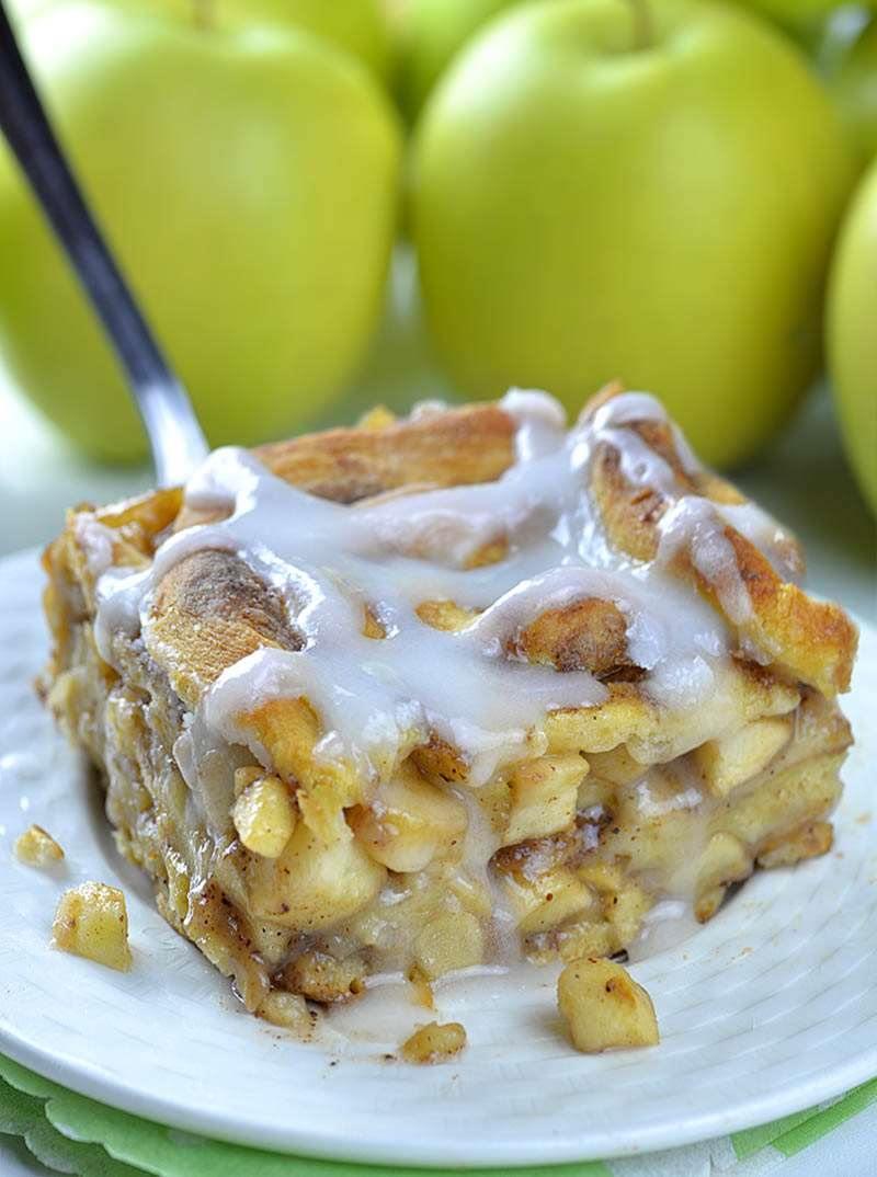 Caramel Apple Cinnamon Roll Lasagna 1