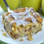 Caramel Apple Cinnamon Roll Lasagna