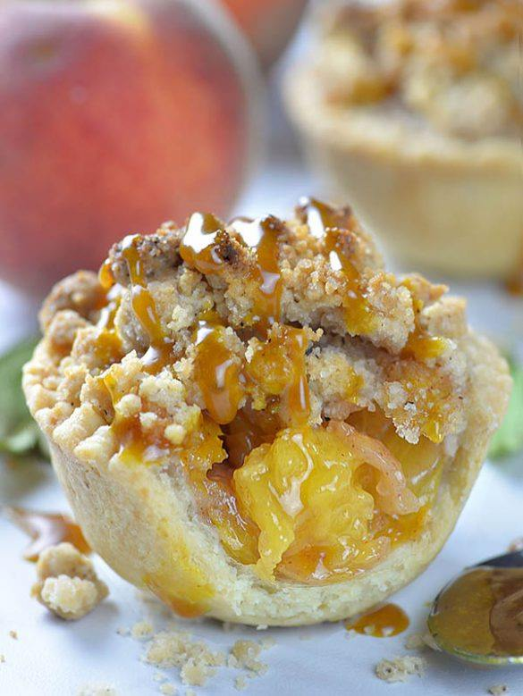 Sliced Mini Peach Pie