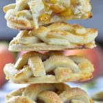 Four stacked peach pie cookies