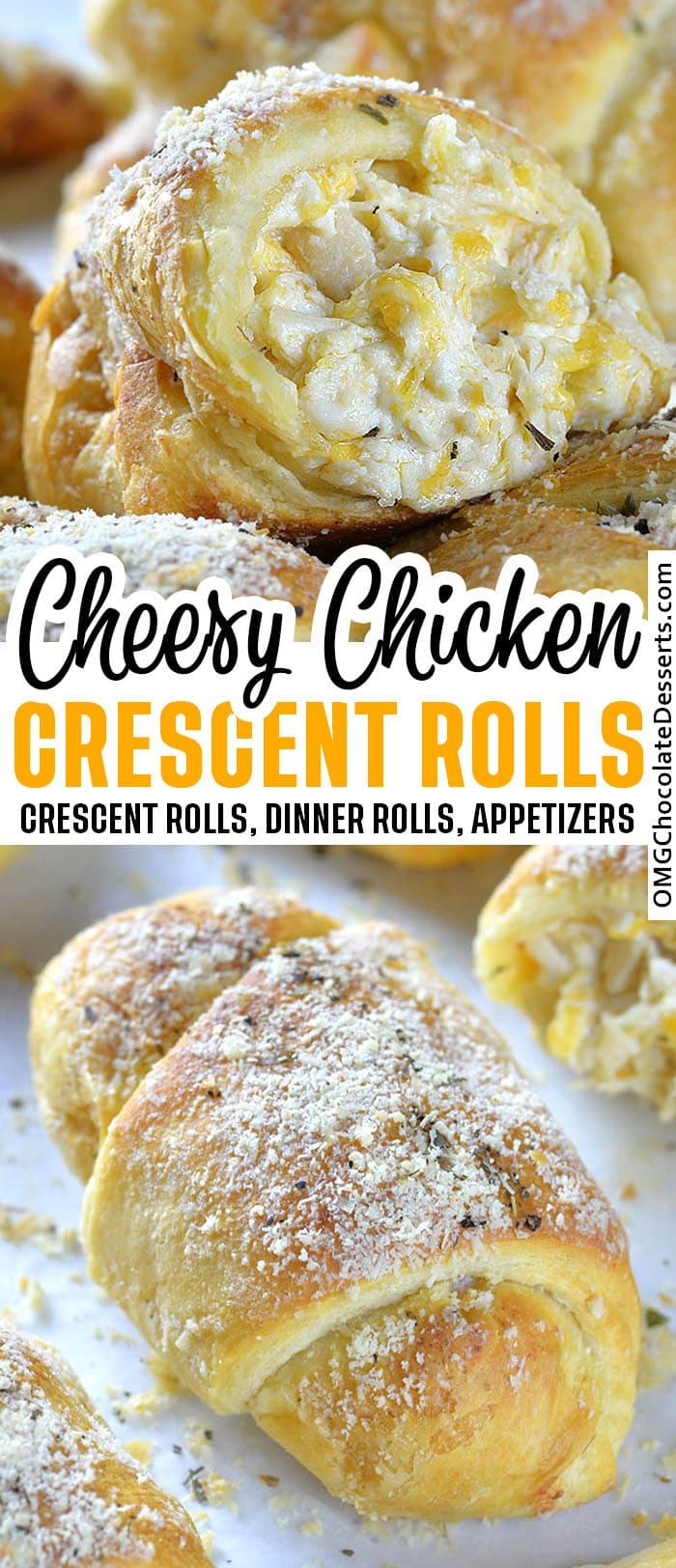 Cheesy Chicken Crescent Rolls