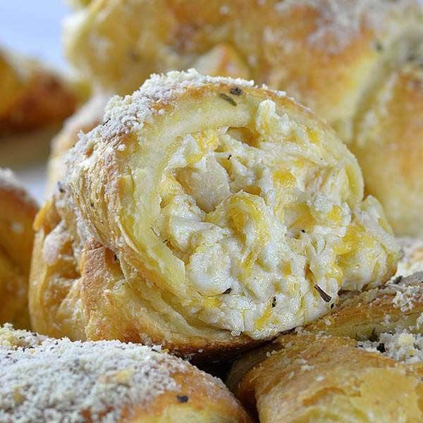 Cheesy Chicken Crescent Dinner Rolls