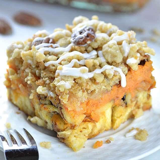 Pumpkin Pie Cinnamon Roll Casserole