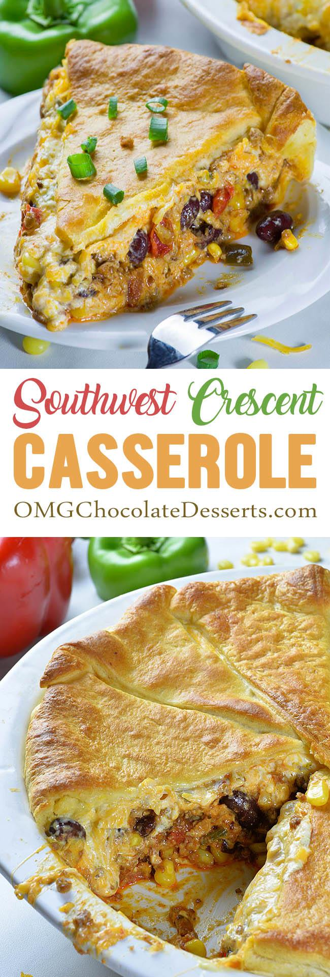 Southwest Crescent Casserole is simple and easy meal for whole family. It's great idea for weeknight dinner!!!