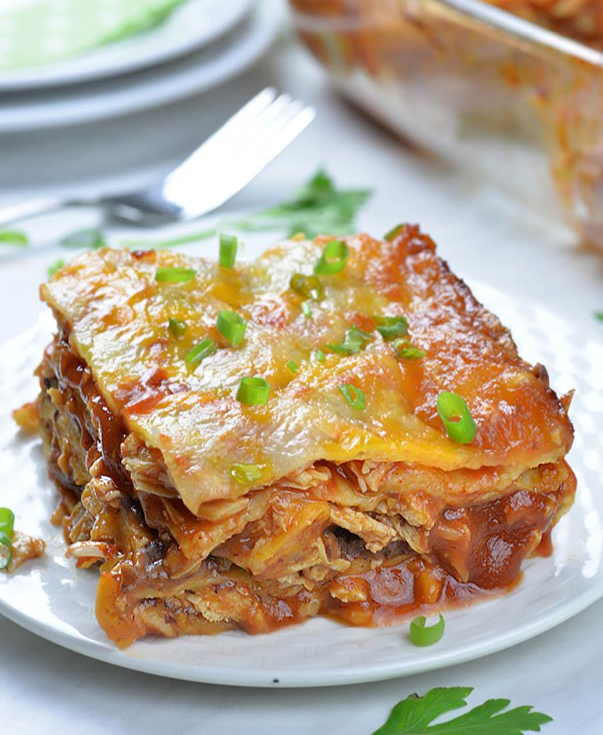 Easy Chicken Enchilada Casserole - one
