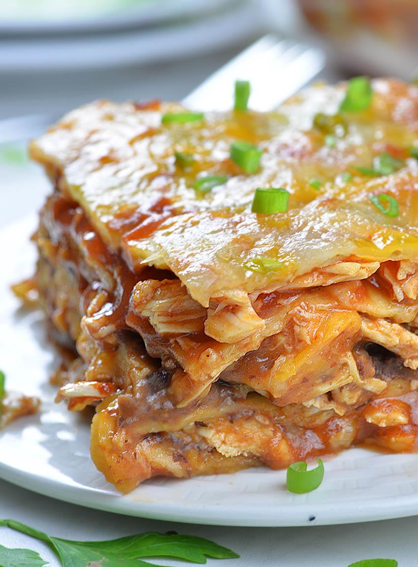 Easy Chicken Enchilada Casserole - big