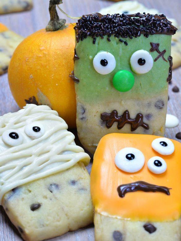 Halloween Monsters Shortbread Cookies