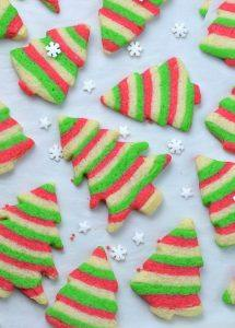 Bunch of Christmas sugar cookies.