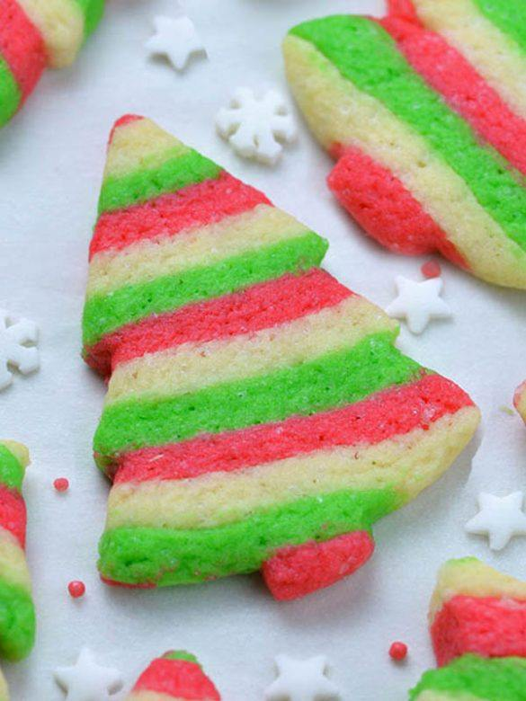Christmas Sugar Cookies on a baking paper