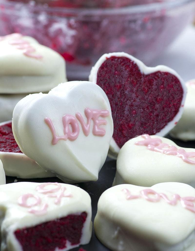 Red Velvet Cake Valentine's Hearts - That's just my fun way to make holiday desserts festive and cute looking.