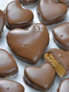 Bunch of Reeses Peanut Butter Valentines Hearts