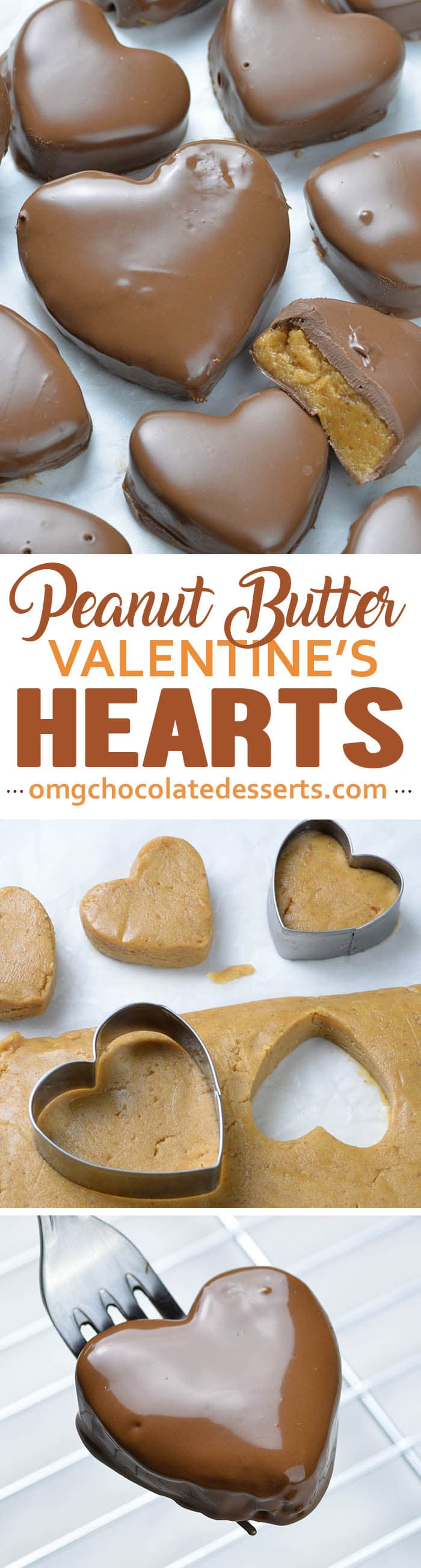 Peanut Butter Valentines Hearts - An all time classic favorite, chocolate covered peanut butter treat in a heart shape. Great for gift giving, office treats and school exchanges.