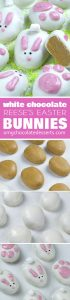Easter desserts like these White Chocolate Reese's Easter Bunnies will satisfy any sweet tooth and add festive flair to your Easter party or brunch.