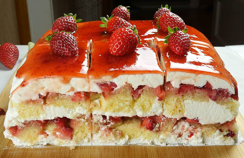 Strawberry Icebox Shortcake with fresh strawberries is combo of Strawberry Shortcake and Strawberry Icebox Cake