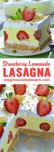 Strawberry Lemonade Lasagna is quick and easy NO BAKE dessert recipe with only few ingredients for light and refreshing summer treat!!!