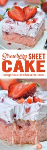 Strawberry Sheet Cake is perfect spring and summer crowd-pleaser dessert.