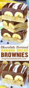 Chocolate Covered Banana Brownies is the most decadent version of chocolate covered bananas you'll ever tried!!! They are super fudgy and SOOO rich!