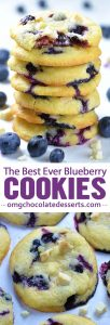 Best Ever Blueberry Cookies - sweet and tangy flavor combo, soft and chewy texture of these cookies and gooey filing in the center
