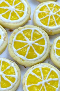 couple of laying Lemon Shortbread Cookies.