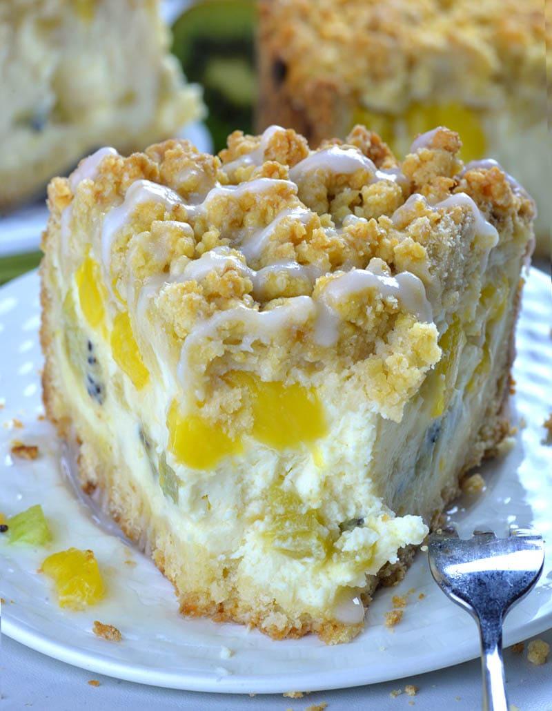 Cream Cheese Blueberry Crumb Cake