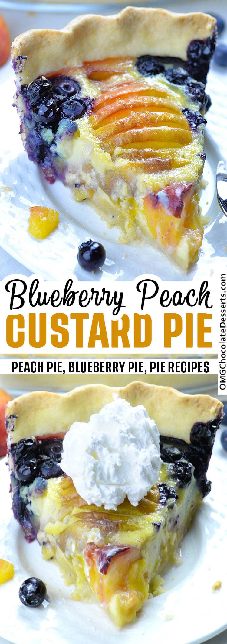 Blueberry Peach Custard Pie