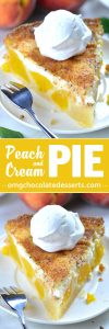 Peaches and Cream Pie is really delicious. It's so creamy, gooey and full of flavors. Cream cheese filling and caramelized cinnamon sugar baked on top, make this pie so special.