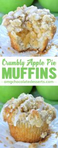 Apple Pie Muffins with Streusel Crumbs are easy and delicious fall dessert, snack or breakfast treat.