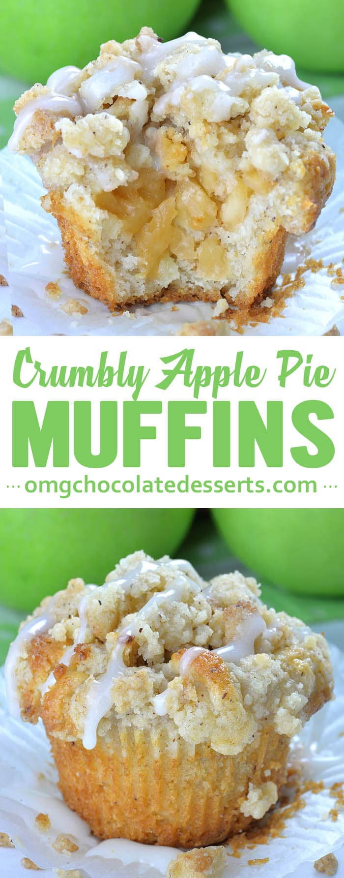 Apple Pie Muffins with Streusel Crumbs  are easy and delicious fall dessert, snack or breakfast treat. If you have your mind set on Fall, these Cinnamon Apple combo is perfect!