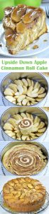 This Upside Down Apple Cinnamon Roll Cake is made with refrigerated crescent roll dough, so it means less work from the start. For this recipe you'll also use peeled and sliced fresh apples, no need to cook them first. Although, the recipe calls for homemade caramel sauce, no worries! It's done in just 5 minutes!