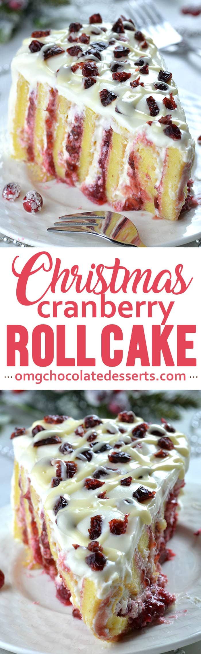 Cranberry Christmas Cake-It's delicious Christmas dessert and I can't think of a better way to enjoy the holidays than white chocolate-cranberry cake!