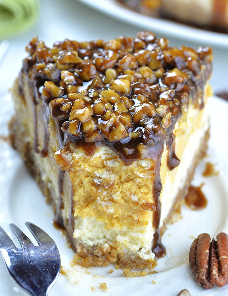 Sweet Potato Cheesecake with Pecan Topping