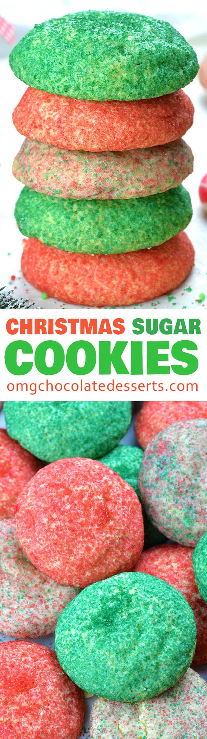 Christmas Sugar Cookies are just fun and festive twist on classic sugar cookie recipe. Sugar cookies are Christmas cookie staple!!!