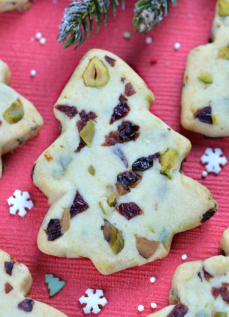 Shortbread Cookies Christmas.Cranberry Pistachio Christmas Shortbread Cookies
