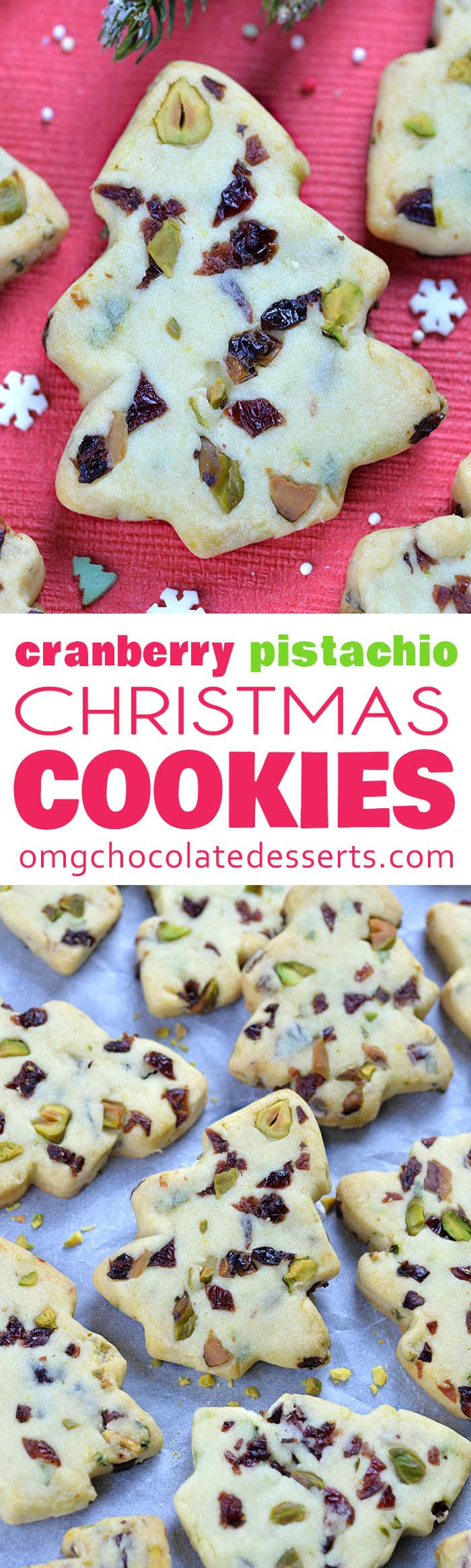 I'm sure Santa would love to grab a few of these Cranberry Pistachio Christmas Shortbread Cookies too, when he stops by to deliver the Christmas gifts.