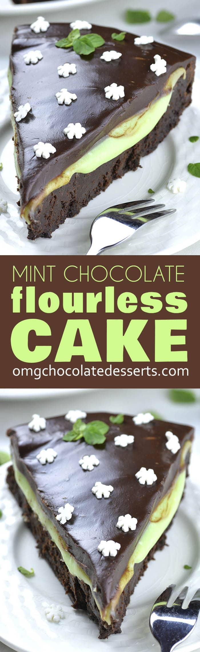 Chocolate mint combo is perfect for winter holidays. If you are looking for perfect Christmas dessert recipes for your Christmas table this year, you should consider this decadent Flourless Mint Chocolate Cake. It's super SIMPLE and EASY to make.