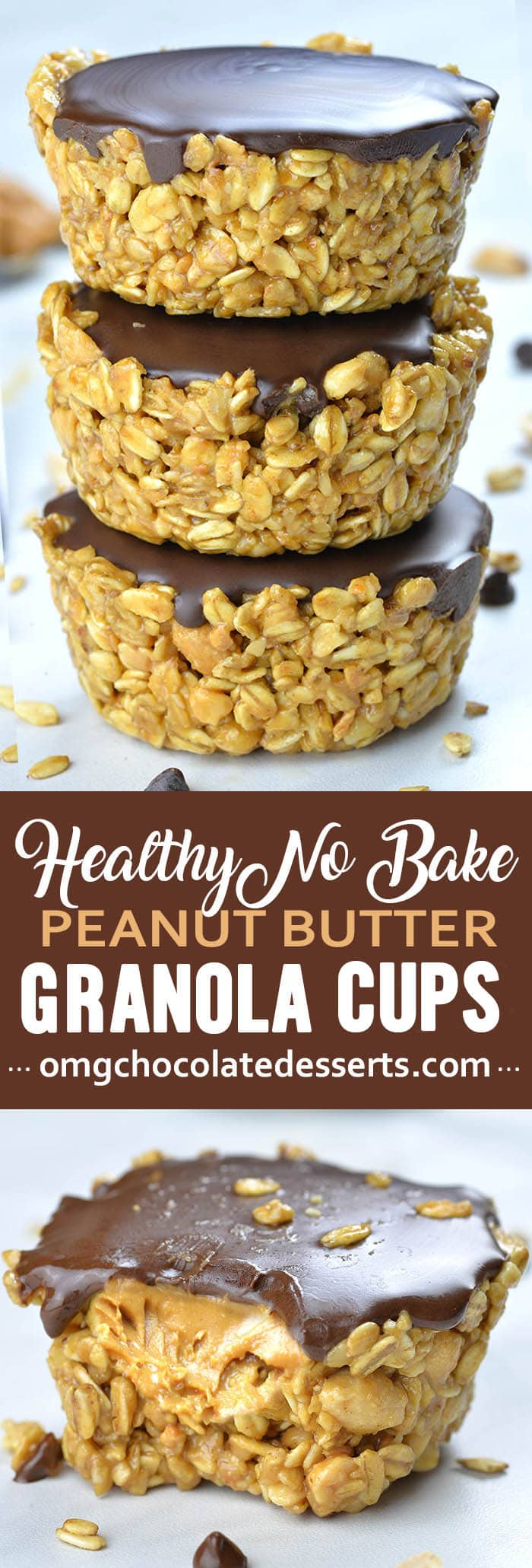 If you are looking for healthy and easy recipes to make ahead and have on hand when you need little boosts ofenergy these Healthy No Bake Peanut Butter Granola Cups are perfect.