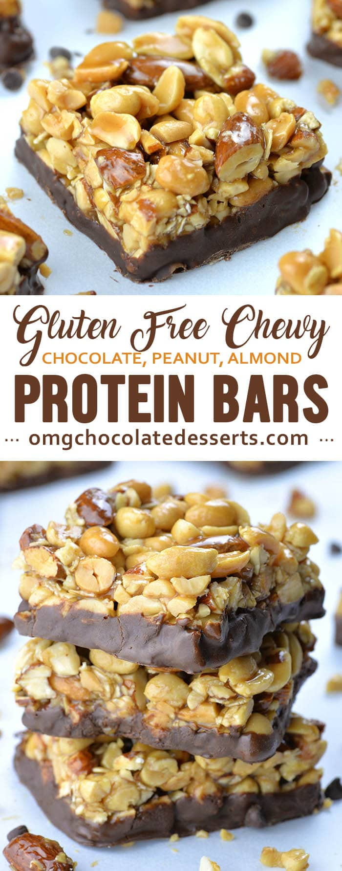 Gluten Free Protein Bars are great to have on hand while you are at work or keep in your purse wherever you go. They are healthy snack that you can pack up into the lunch box for your kids to take to school.