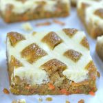 Carrot Cake Blondie bar slice