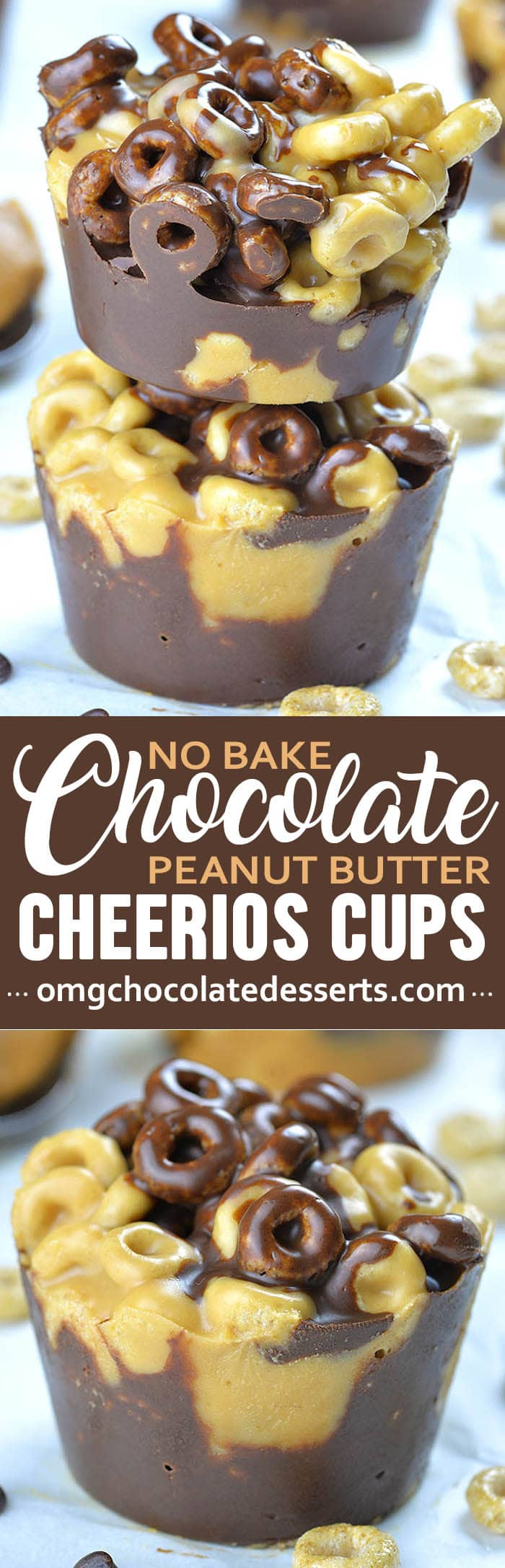 Need a quick and healthy dessert or snack? Chocolate Peanut Butter Cheerios Cups are easy and healthy snack for kids and adults and perfect breakfast to grab and go on busy mornings.
