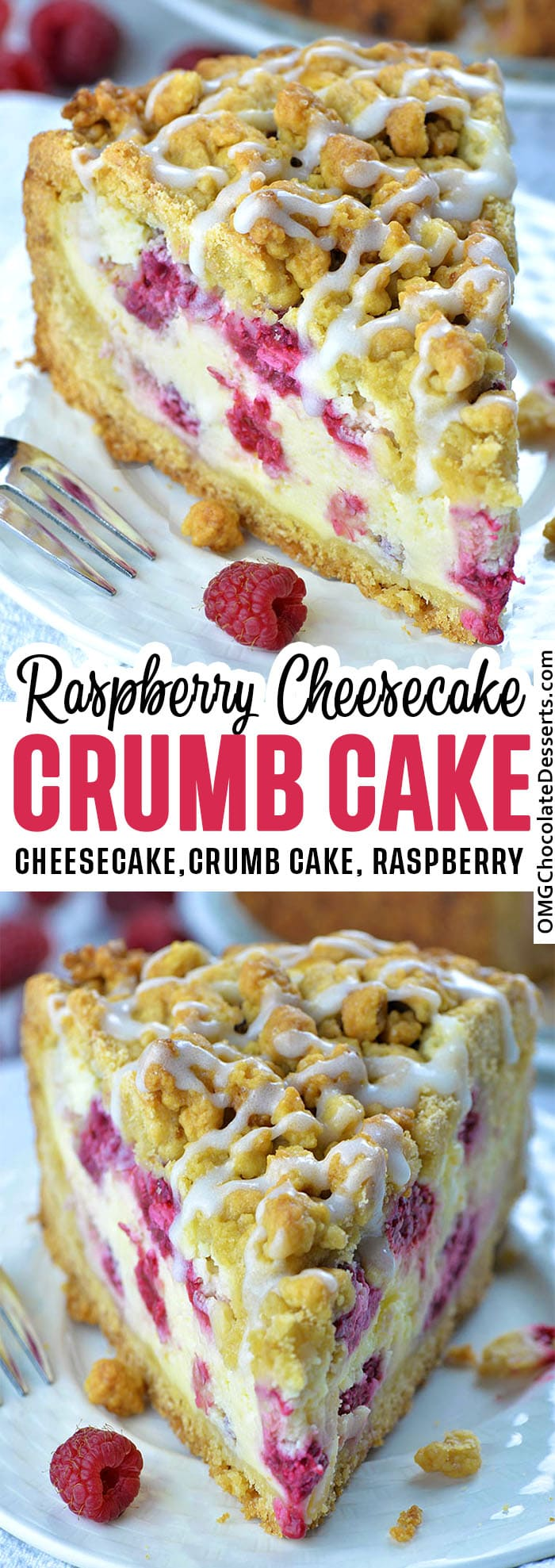 Raspberry Cheesecake Crumb Cake