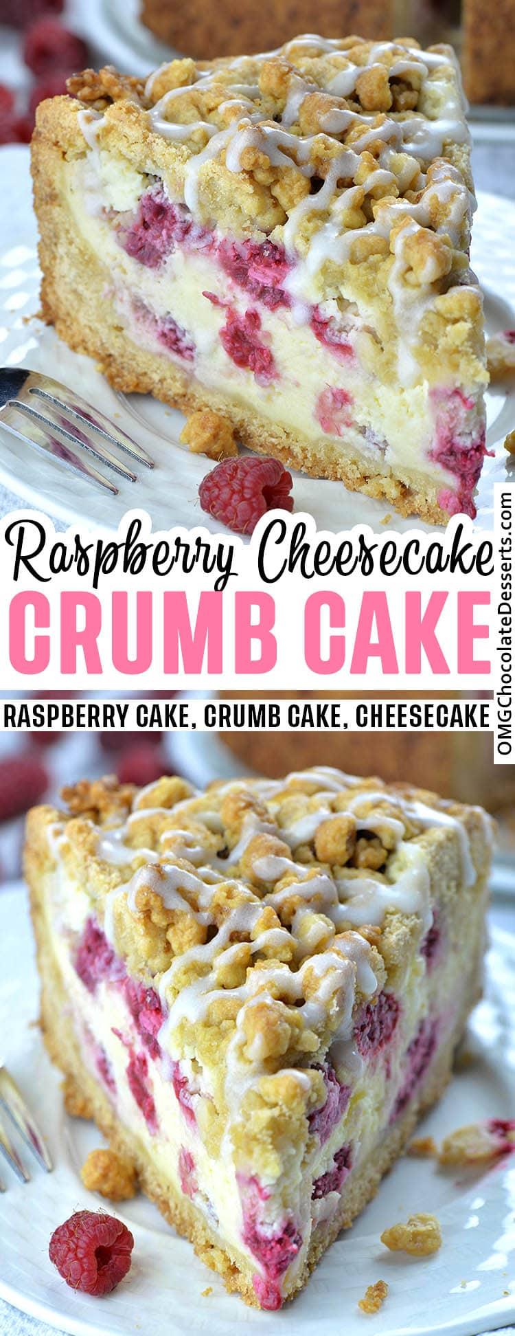 Raspberry Cream Cheese Crumb Cake