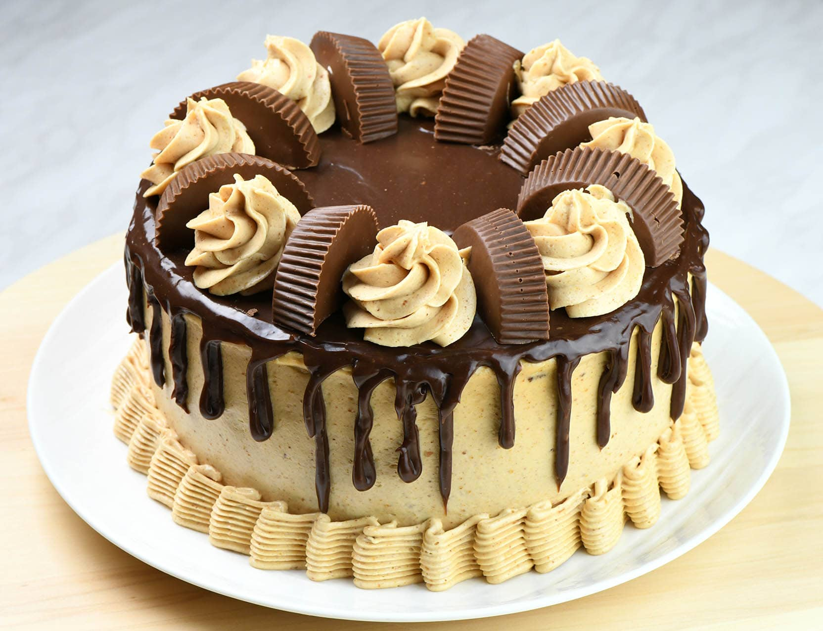 Whole Peanut Butter Chocolate Cake.