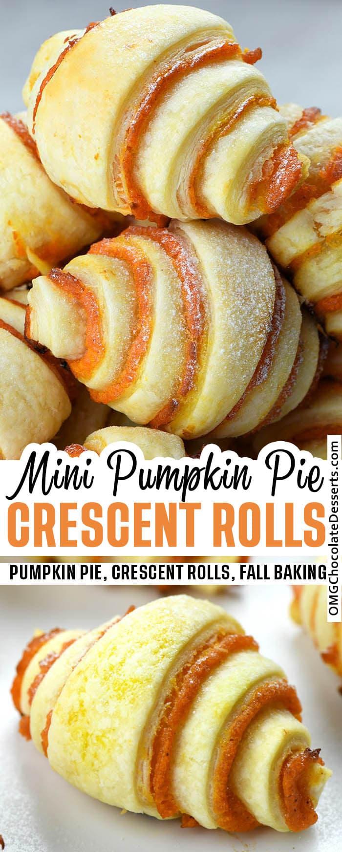 Mini Pumpkin Pie Crescent Rolls