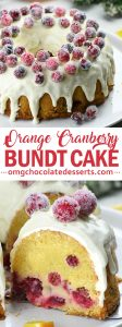 Orange Cranberry Bundt Cake - super moist orange cake dotted with cranberries that simply scream Christmas.