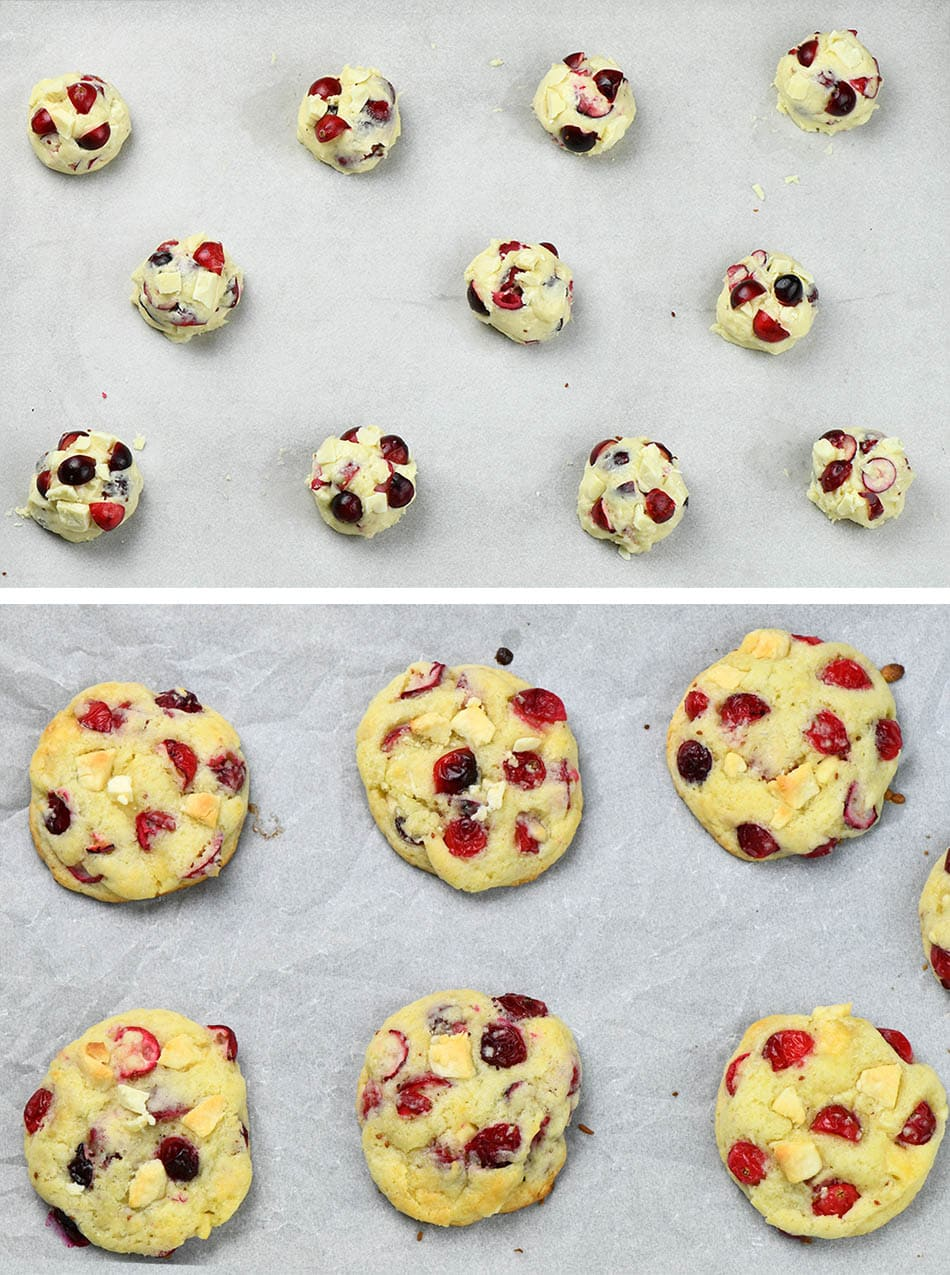 Fresh Cranberry White Chocolate Cookies (cookie baking)
