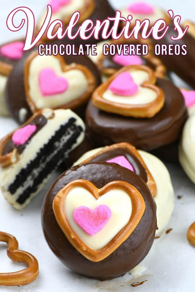 These Valentine's Chocolate Covered Oreos are simply amazing. They are always a mega-hit with friends and family and it's one of the simplest and most scrumptious treats to make.