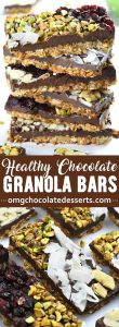 Chocolate Granola Bark is easy to make and irresistibly delicious healthy snack and healthy treat. Dark chocolate, granola with dried fruits and nuts is a great idea for January healthy dessert, too.
