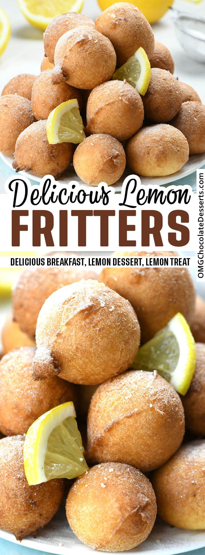 Lemon Fritters - two different images.